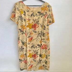 Maggy London Petites Silk Dress Size 14P